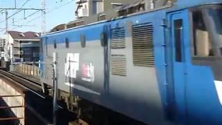 貨物列車 桃太郎EF210形(165号機)単機回送 北朝霞駅通過