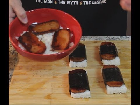 How to make Musubi  (Spam Sushi)