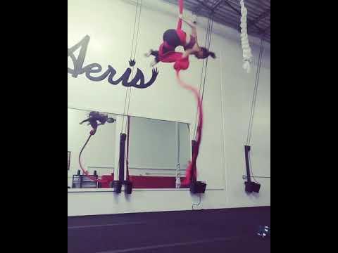 Aeris Aerial Arts Darla Davis Greatest Showman Never Enough Aerial Silks