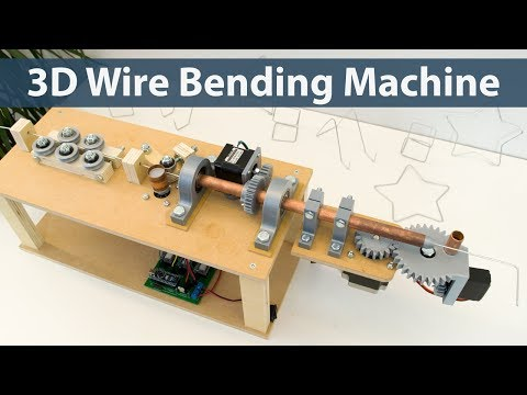 Make: an open source hardware, Arduino-powered, 3D-printed wire-bending machine