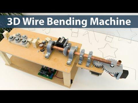 DIY Arduino 3D wire bending machine