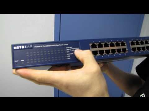 Netgear Prosafe GS724T-300NAS 24 Port Gigabit Smart Switch Unboxing & First Look Linus Tech Tips