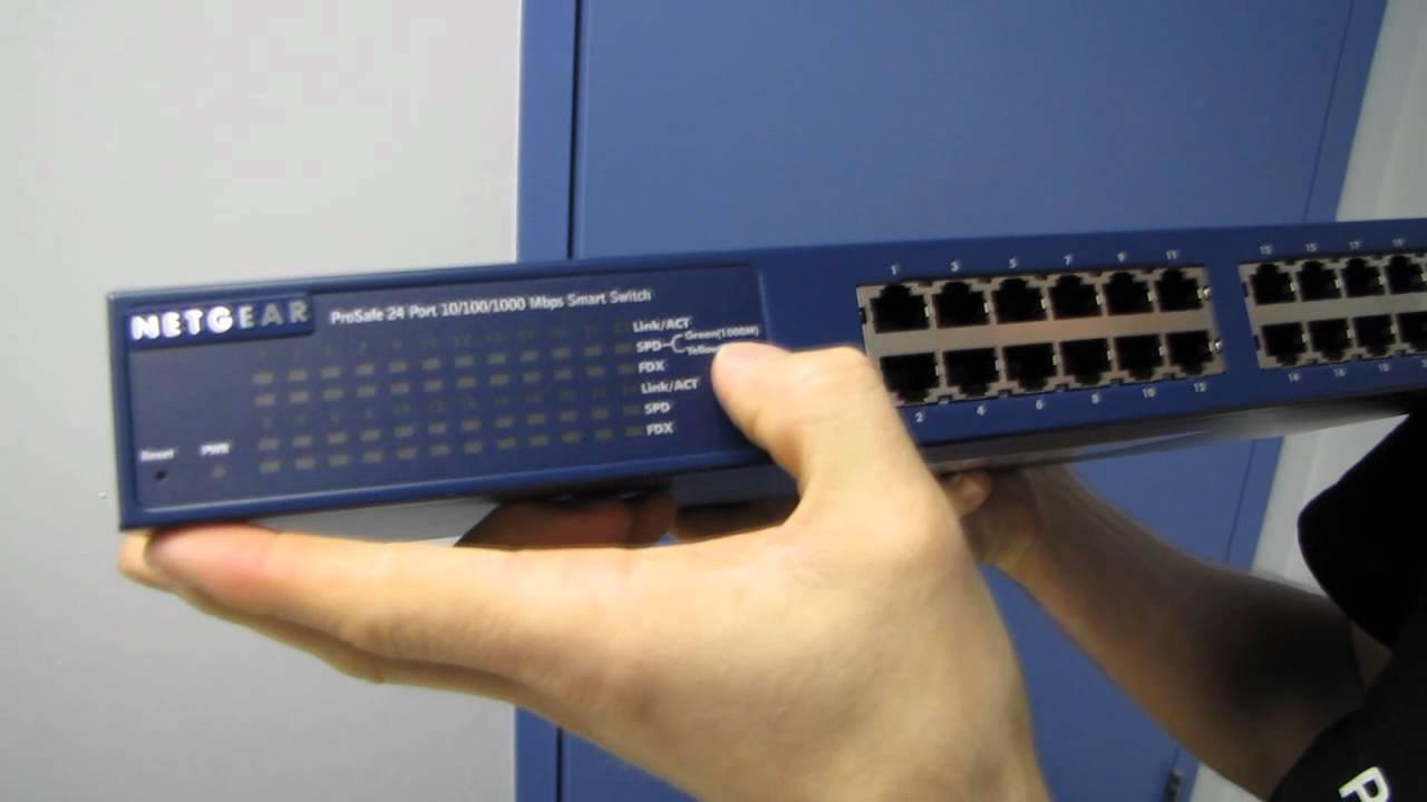 netgear prosafe gs724t 300nas 24 port gigabit smart switch unboxing install netgear switch netgear prosafe gs724t [ 1280 x 720 Pixel ]