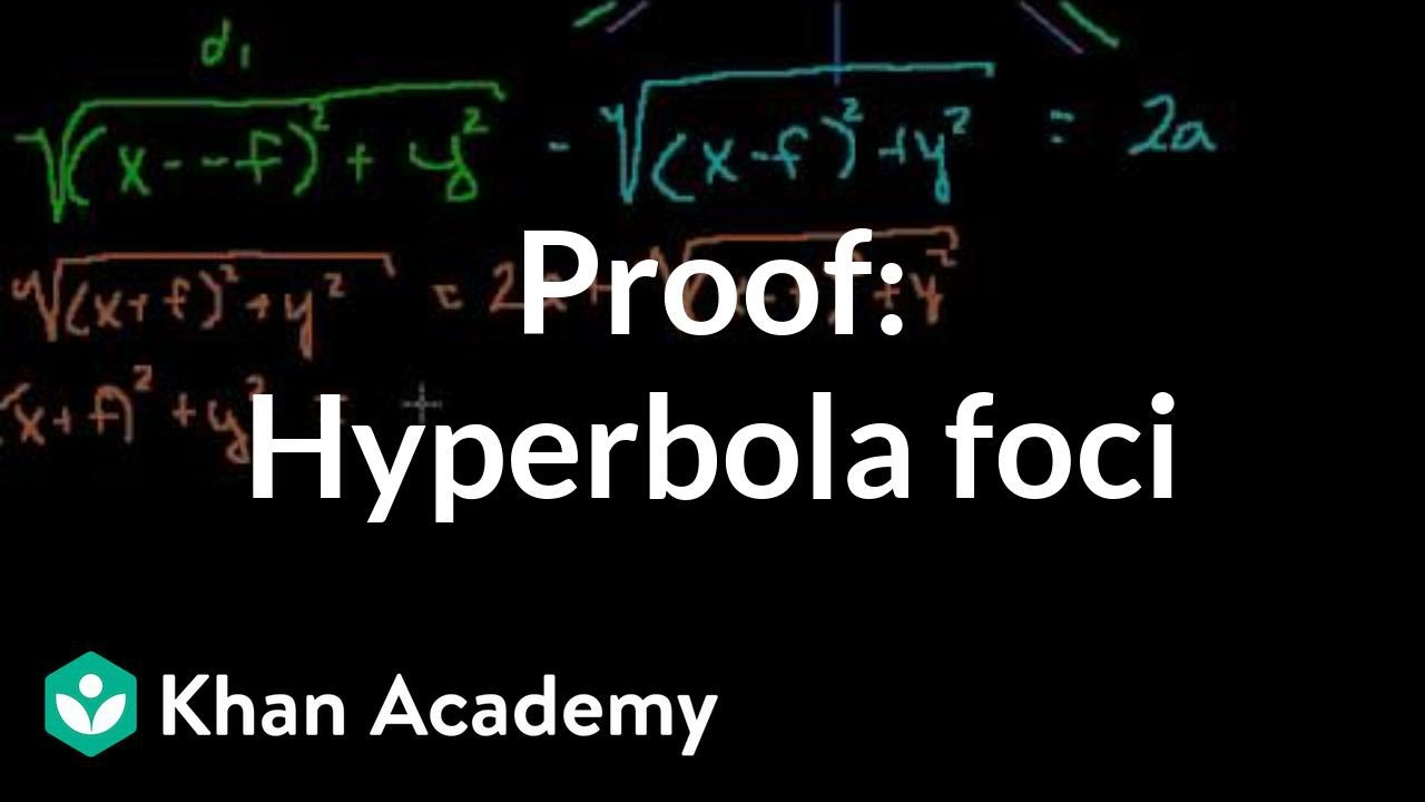 Proof: Hyperbola foci | Conic sections | Algebra II | Khan Academy