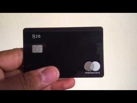Carte N26 Metal.Carte Metal Black N26