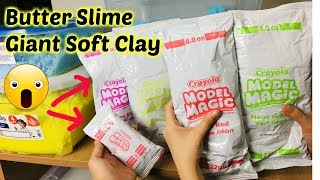 Làm Slime Bơ Bằng Đất Sét Mỹ Khổng Lồ_Making Butter Slime With Giant Model Magic