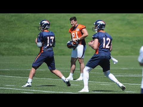 Broncos quarterback battle just starting with OTAs; Emmanuel Sanders critical of energy level