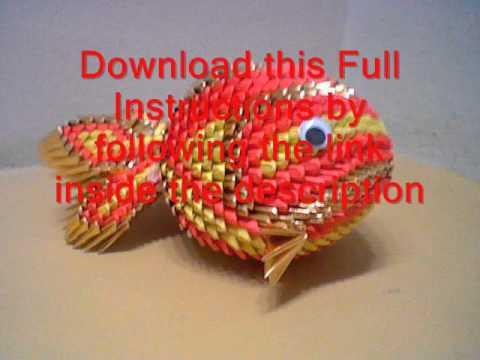 3d Origami Koi Fish Tutorial Youtube