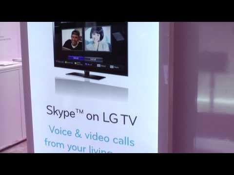 LG CES 2010: Skype on LG TVs