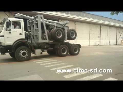 timber transportation trucks of CIMC SHANDONG