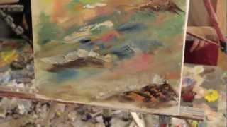 Интуитивная живопись И. Сахарова Картина Масло Холст