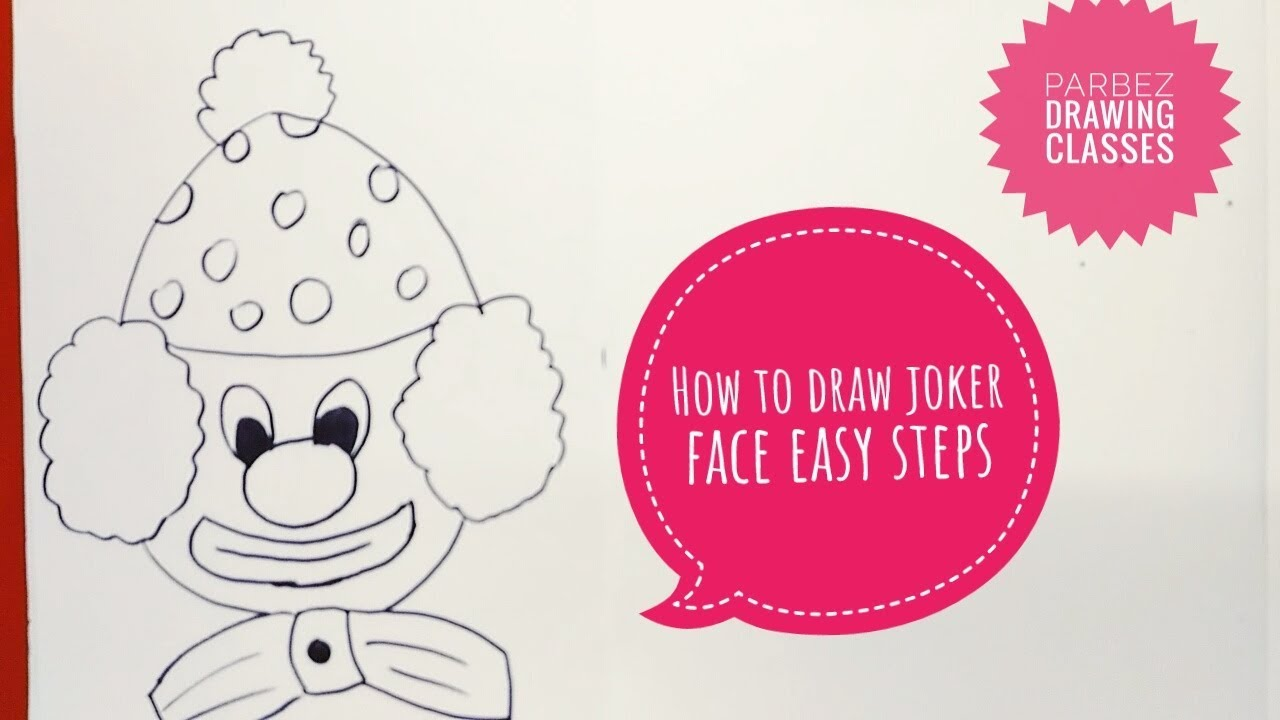 How To Draw Joker Face Easy Steps By Parbez Drawing Class