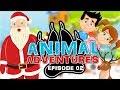 🎅 ANIMAL ADVENTURES SAVES SANTA CLAUSE 🐼 Animal Christmas Cartoon For Kids 🦁