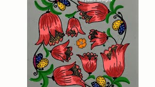 Easy rangoli designs...beautiful flowers...7 to 7 dots