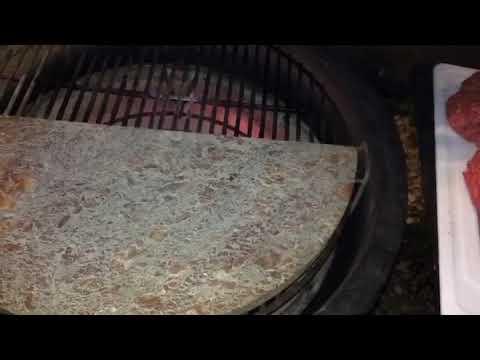 Cheeseburgers on the Kamado Joe using a KJ Soapstone