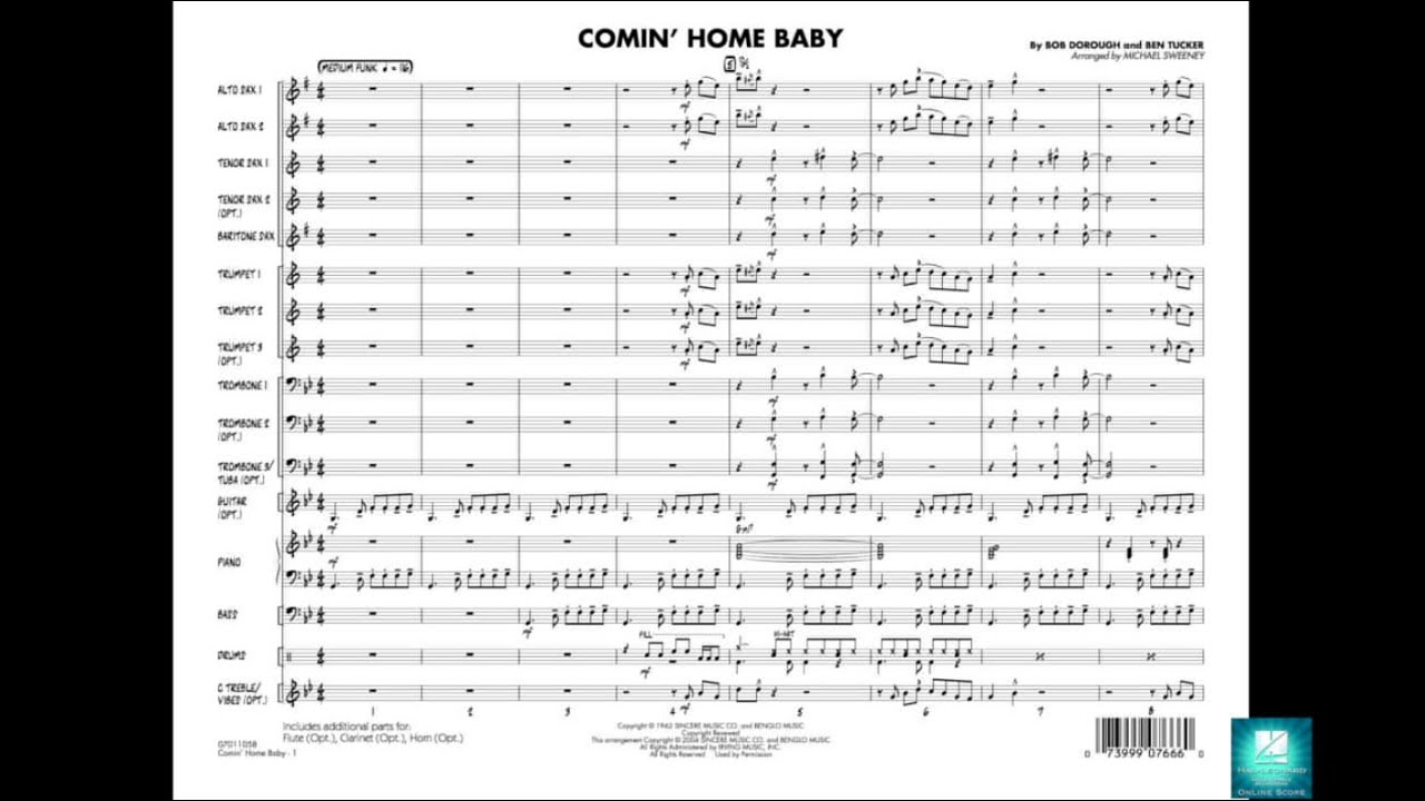 Comin' Home Baby arranged by Michael Sweeney - YouTube