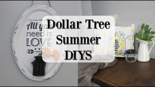 DOLLAR TREE SUMMER DIYS | FARMHOUSE DECOR 2019