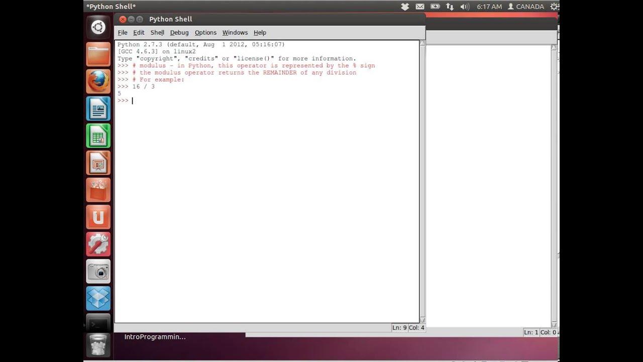 BCSE255 Quick tutorial on the Modulus operator