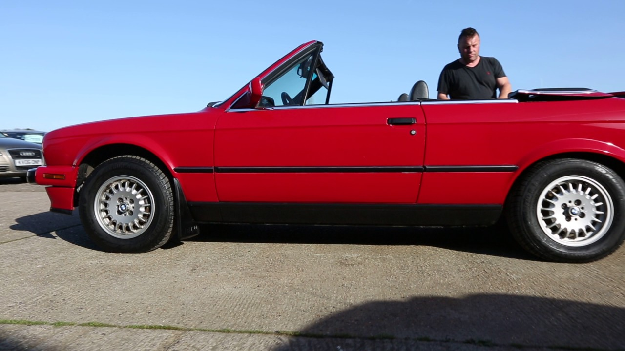1989 Red Bmw E30 325i Se Convertible Lhd