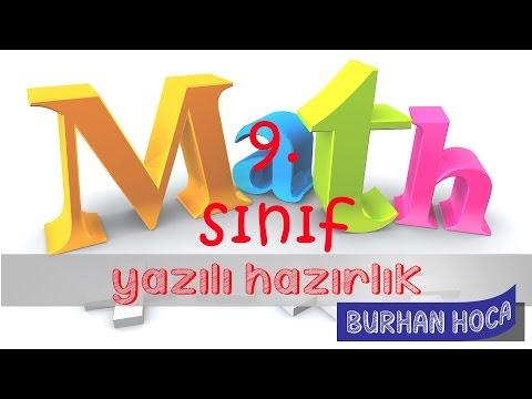 9.sınıf Matematik 1.dönem 1. Yazılı