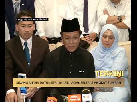 Sidang media Datuk Shafie Apdal selepas angkat sumpah sebagai Ketua Menteri Sabah