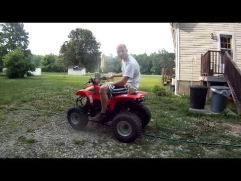 polaris scrambler 90cc 2 stroke ATV 4 wheeler quad youth