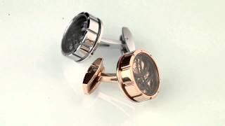 Запонки TF 1968(Оригинальные швейцарские запонки TF est 1968 с часовым механизмом. http://www.evora.ru/items/zaponki-tf-1968-iz-stali-137354 На видео..., 2013-11-20T10:53:03.000Z)