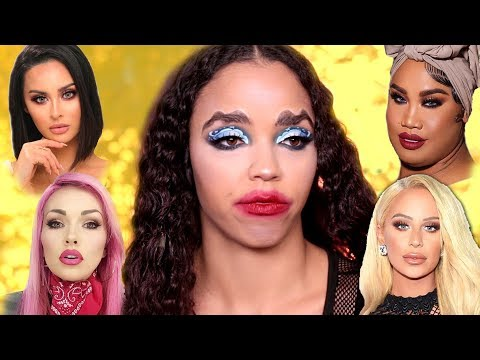 FULL FACE Using Beauty Gurus CRINGE Makeup Trends That NEED TO DIE