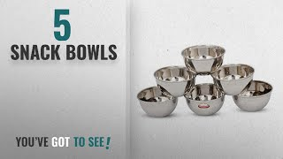 Top 10 Snack Bowls [2018]: Shubham Steel Bowl 6 Pcs Set 9Cm Small - M Vatti S10