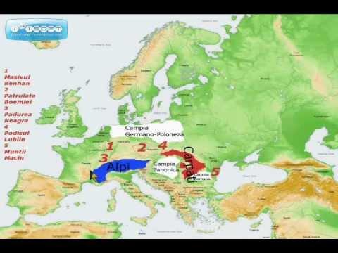 Unitatile Fizico Geografice Din Europa Wmv Youtube