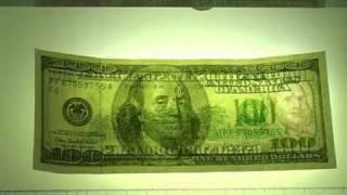 Проверка подлинности купюр - Доллар США