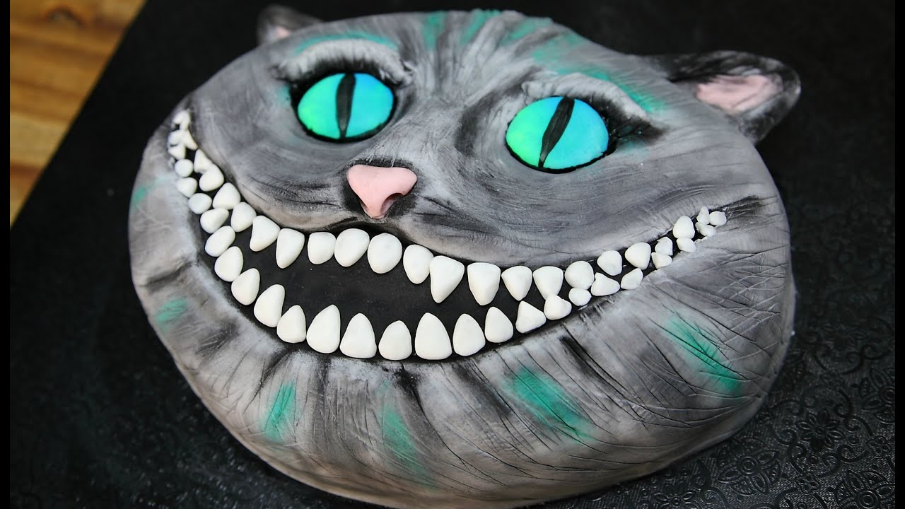 How To Make A CHESHIRE CAT Cake CAKE STYLE Tim Burton Alice in