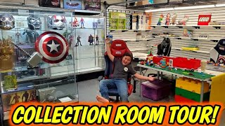 OUR COLLECTION ROOM!! HUGE INSIDE TOUR UPDATE! LEGO, CARS, MARVEL TOYS AND MORE!
