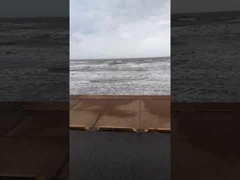 Sea wall ( Galveston beach )