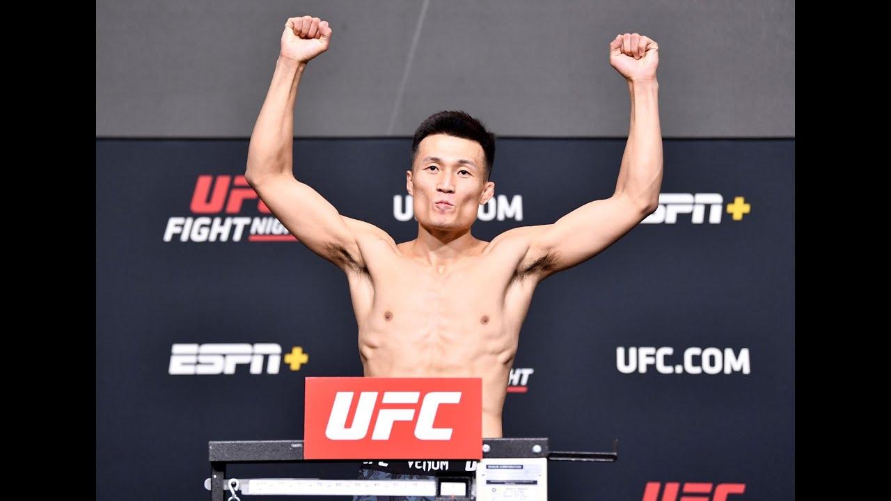 UFC Vegas 29: The Korean Zombie vs Ige Weigh-in