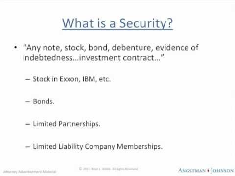 Boise Idaho Securities Lawyer Discusses Basic Securities Law