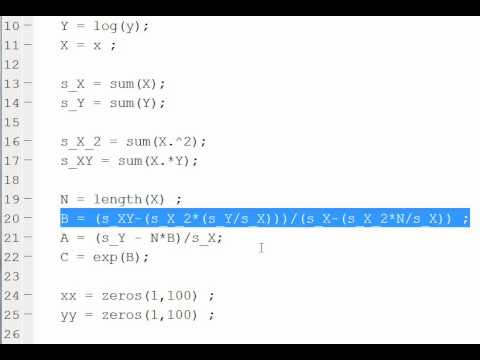 Matlab help exponential function?