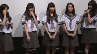 東京女子流が制服姿で登場! 映画「学校の怪談 呪いの言霊」舞台あいさつ(1)