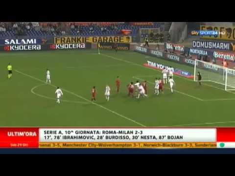 ROMA MILAN 2 3 HIGHLIGHTS AMPIA SINTESI SKY SPORT 24 HD 29102011.wmv