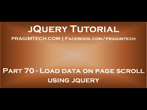 Load data on page scroll using jquery