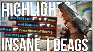 TWITCH HIGHLIGHTS 5 - INSANE DEAGLE HEADSHOTS