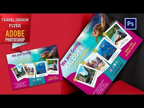 How To  Travel Tour Template Design | Adobe Photoshop