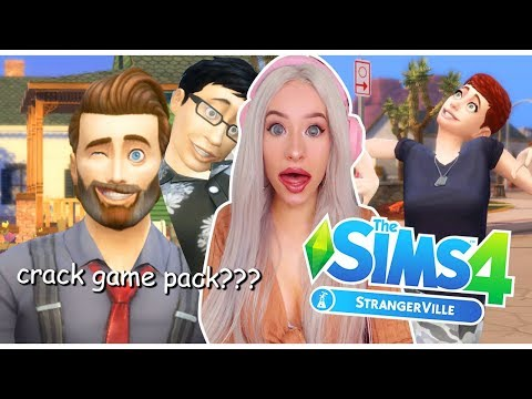 reacting to the new STRANGE sims pack?!?!   STRANGERVILLE THE SIMS 4