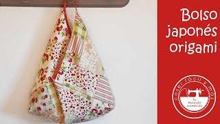 Bolso origami japonés con patrones gratis