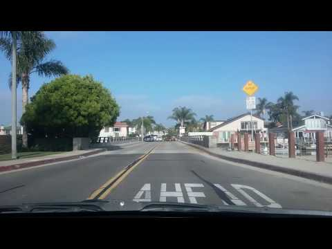 Driving Tour Humbolt Island, Huntington Harbour, Huntington Beach CA