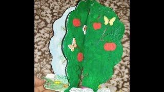 DIY Дерево времен года Своим руками для детского сада.