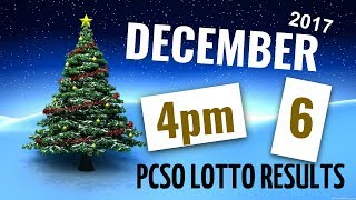 Lotto Results December 6, 2017 at 4:00 pm (Afternoon draw) ft. Swertres & Ez2