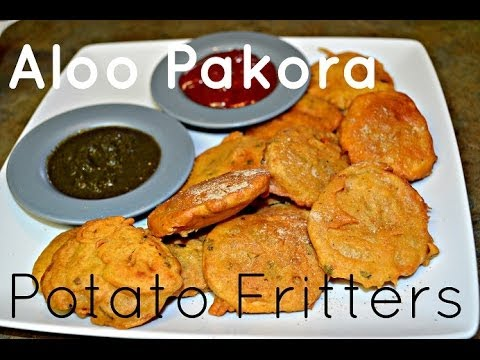 Aloo Pakora Punjabi recipe.Crispy Potato Fritters video by Chawla's ...