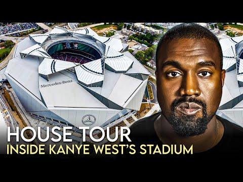 Kanye West | House Tour | Mercedes Benz Stadium Rent & Wyoming Ranch