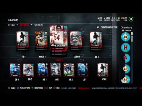 MADDEN 17 ULTIMATE TEAM 12/23 GIFTS GIVE 94 OVERALL DALLAS CLARK!!!